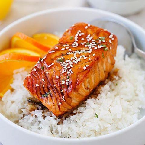Salmon with Orange Teriyaki Glaze Recipe