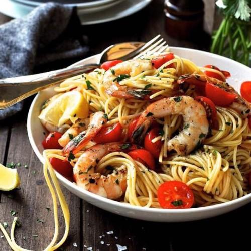 Lemon Shrimp Pasta - Restaurant Style