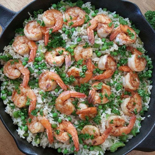 Easy Skillet Shrimp Dinner