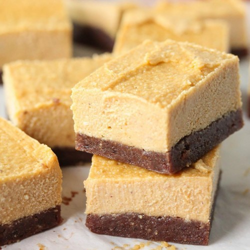 No-Bake Pumpkin Cheesecake Bites Recipe {Gluten-Free, Vegan}