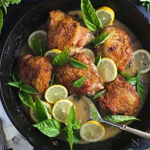 Chicken Lemon, Garlic and Basil