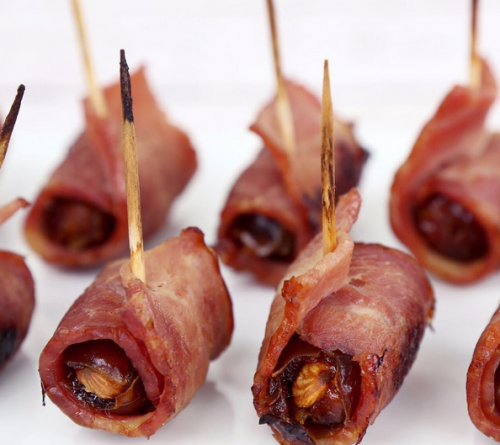 BACON WRAPPED STUFFED DATES!
