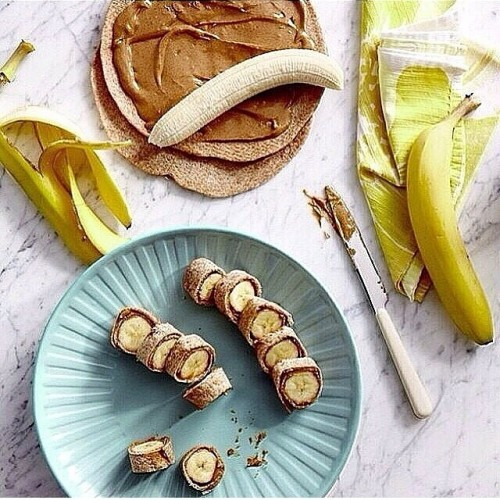 Peanut butter & banana rye wraps