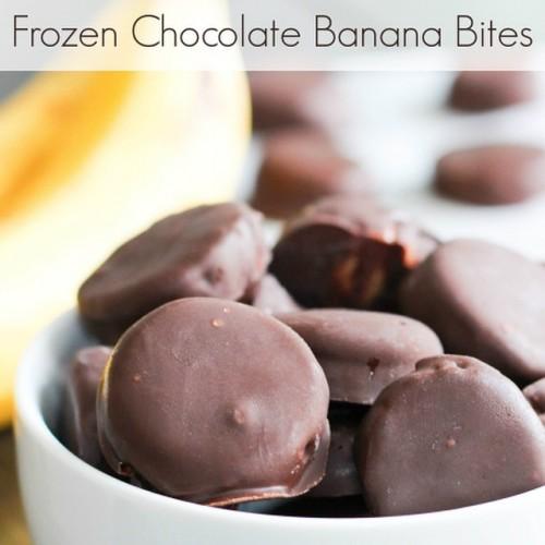 Frozen Chocolate Banana Bites
