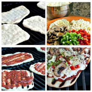 How to make personal pizzas on the grill
