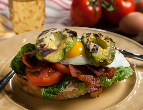 Grilled Avocado BLT with Egg Sandwich