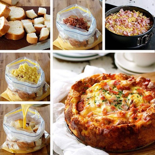 Cheese and Bacon Breakfast Strata
