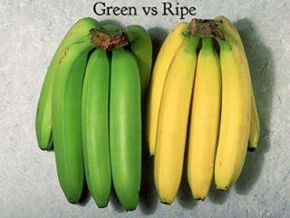 Green VS. Ripe Bananas