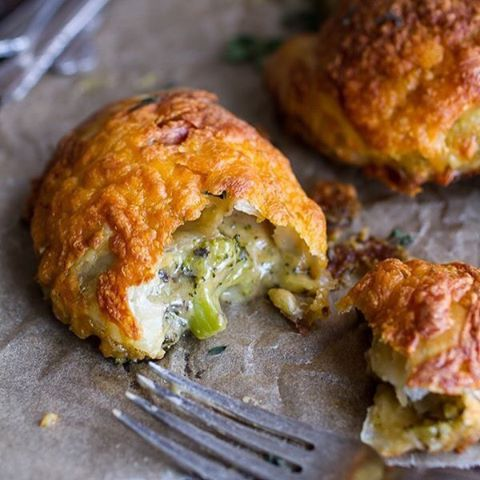 Broccoli Cheddar Soup Mini (and so Flakey) Pies