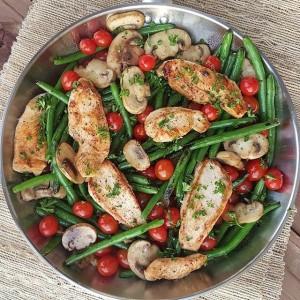 Balsamic Chicken Tenders w/Veggies