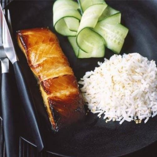 Miso-marinated salmon