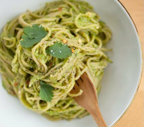 AVOCADO-CILANTRO CREAM ANGEL HAIR