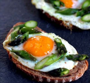 Egg and Asparagus Toast