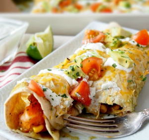 CHICKEN & SWEET POTATO ENCHILADAS