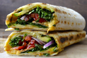 Grilled Zucchini Hummus Wraps