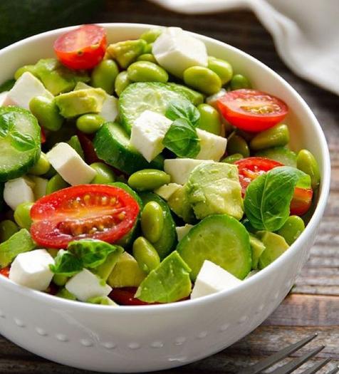 Chopped Edamame Caprese Salad