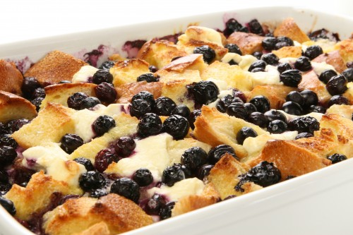 Wild Blueberry Croissant French Toast Casserole