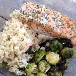 Yummy Healthy Salmon Dinner