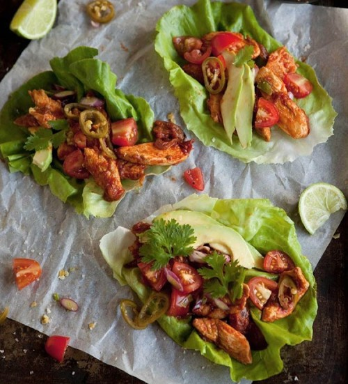 Lettuce Tacos' with Chipotle Chicken