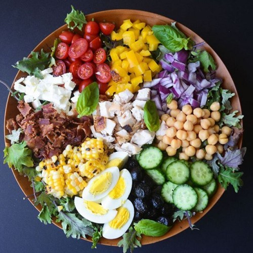 Chopped Salad with Spicy Tomato Vinaigrette