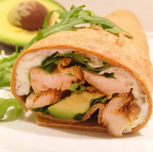 Grilled-Chicken, Egg White, Avocado Wrap