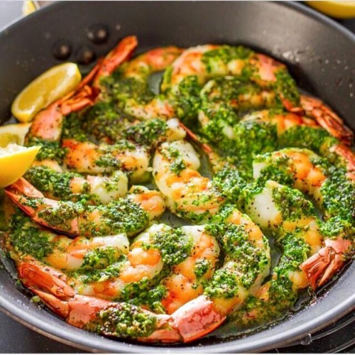 Garlic & Parsley Lemon Shrimp