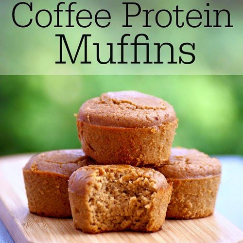 Healthy Coffee Protein Muffins
