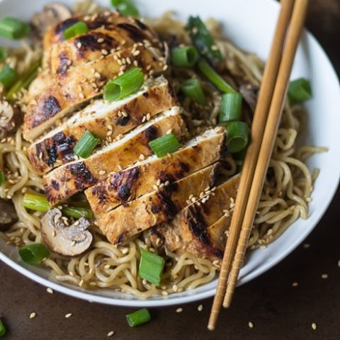 Ginger Chicken with Sesame Noodles