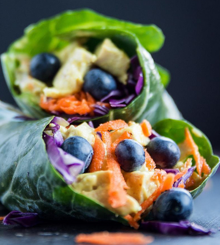 TURMERIC CHICKEN COLLARD WRAPS!