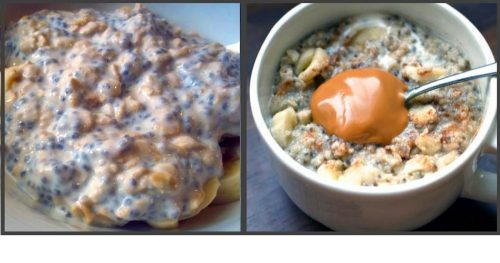 High Protein Breakfast – Peanut Butter Banana Overnight Oats
